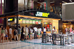 Fast food do metro em China Foto de Stock