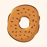 Fast food donut flat icon elements,eps10. Vector illustration file Stock Images