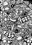 Fast Food Doodle Stock Photos