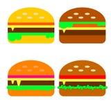 Fast food dos hamburgueres ilustração royalty free