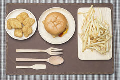 Fast Food Doubble Cheese Burger Royalty Free Stock Images