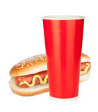 Fast food drink and hot dog Royalty Free Stock Images