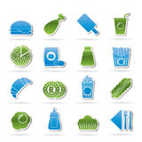 Fast food and drink icons Stock Image