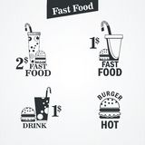 Fast food. And drink set Stock Photos