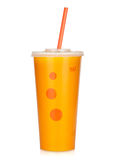 Fast food drink with straw Royalty Free Stock Photo
