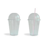 Fast food drinking cups Royalty Free Stock Images