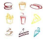 Fast food e petiscos ilustração stock