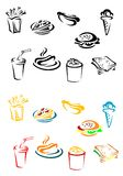 Fast food elements Stock Image