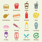 Fast food elements Stock Photography