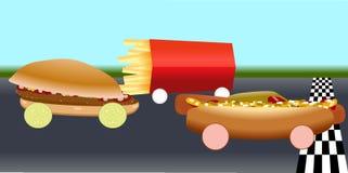 Fast food em circuitos de competência ilustração do vetor