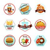 Fast Food Emblems Royalty Free Stock Image