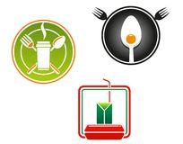Fast food emblems and symbols Royalty Free Stock Photos