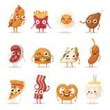 Fast food emotion vector illustration. Stock Image