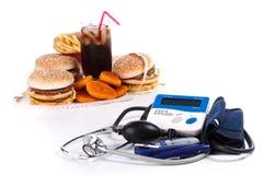 Fast-food en medische hulpmiddelen royalty-vrije stock foto