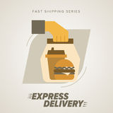 Fast Food Express Delivery Symbols. Royalty Free Stock Image
