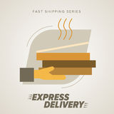Fast Food Express Delivery Symbols. Royalty Free Stock Photo