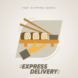 Fast Food Express Delivery Symbols. Royalty Free Stock Photos
