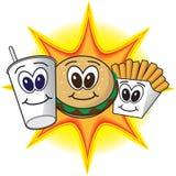 Fast food feliz ilustração stock