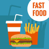 Fast food flat design Royalty Free Stock Photo