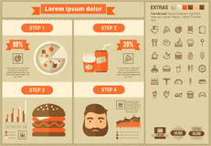 Fast food flat design Infographic Template Stock Image