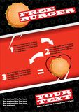 Fast food flyer design vector template in A4 size.Brochure and Layout Design. Free Burger