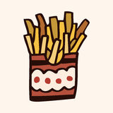 Fast food french fries flat icon elements,eps10 Royalty Free Stock Photos