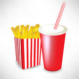Fast food french fries and juice Royalty Free Stock Photo