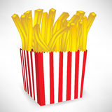Fast food french fries small portion Stock Photography