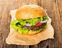 Fast food, fresh burger stock images