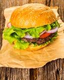 Fast food, fresh burger stock image