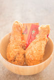 Fast food with fried chicken in a bowl Stock Photography
