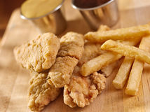 Fast food fried chicken strips close up Royalty Free Stock Image
