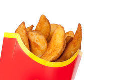 Fast food. Fried potatoes Stock Photos