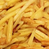 Fast food. Fried Potatoes Close up royalty free stock photography