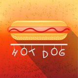 Fast Food Fun Poster in Retro Design Style. Big Royalty Free Stock Photos
