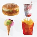 Fast food  geometric polygon - vector Stock Photo