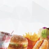 Fast food  geometric polygon - vector Stock Photography