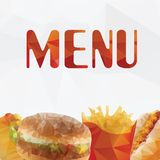 Fast food  geometric polygon - vector Stock Image