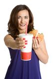 Fast Food Girl Stock Images
