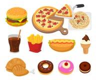 Fast food grafiki bąbla psa używać fasta food gradientów hamburgeru gorące warstwy ustalony kanapka żadny tekst używać Obrazy Royalty Free