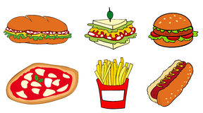 Fast food group. Royalty Free Stock Image