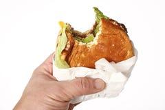 Fast food hamburger Royalty Free Stock Photos