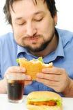 Fast food, hamburger Fotografia Stock