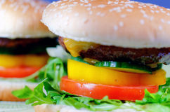 Fast Food Hamburger Stock Photos