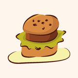 Fast food hamburger flat icon elements,eps10 Stock Image
