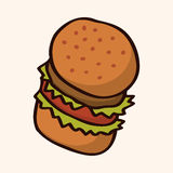 Fast food hamburger flat icon elements,eps10 Stock Photos