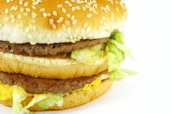 Fast Food Hamburger Meal stock photos