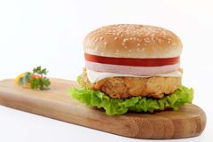Fast Food, Hamburger, Veggie Burger, Ham And Cheese Sandwich Stock Photography