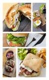 Fast food and hamburgers Royalty Free Stock Image