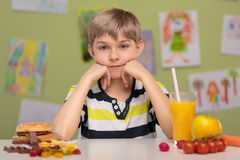 Fast food or healthy food Royalty Free Stock Images